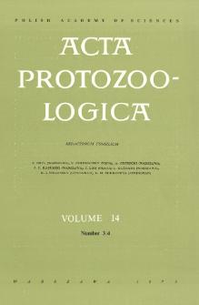 Acta Protozoologica, Vol. 14, Nr 3/4
