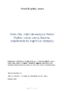 Polska Bibliografia Literacka: Teatr, film, radio i telewizja w Polsce (ludzie teatru, teoria, historia, współczesność, repertuar, krytyka) - 2014