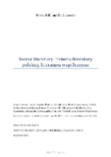 Polska Bibliografia Literacka: Teoria literatury, historia literatury polskiej, literatura współczesna - 2014