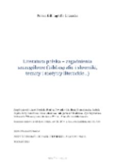 Polska Bibliografia Literacka: Literatura polska - zagadnienia szczegółowe (bibliografie i słowniki, tematy i motywy literackie...) - 2013