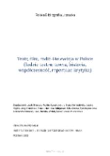 Polska Bibliografia Literacka: Teatr, film, radio i telewizja w Polsce (ludzie teatru, teoria, historia, współczesność, repertuar, krytyka) - 2013