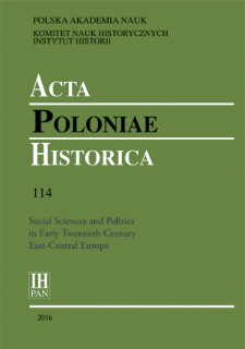 Acta Poloniae Historica T. 114 (2016), Contributors