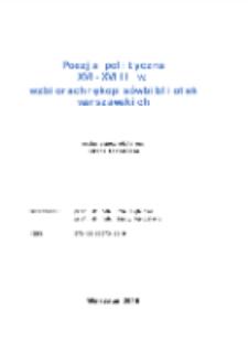 Poezja polityczna XVI-XVIII w. w zbiorach rękopisów bibliotek warszawskich