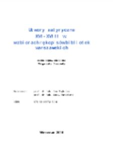 Utwory satyryczne XVI-XVIII w. w zbiorach rękopisów bibliotek warszawskich