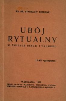 Ubój rytualny w świetle Biblji i Talmudu