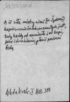 Kartoteka Słownika języka polskiego XVII i 1. połowy XVIII wieku; Chrześcijanin - Chwalny