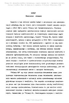 Polacy '84 . Cz. 1, Społeczne wymiary kryzysu i konfliktu. Wstęp