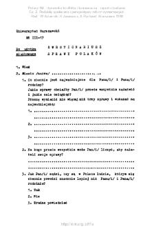Polacy '84 : dynamika konfliktu i konsensusu : raport z badania. Cz. 2, Podziały społeczne i perspektywy reform systemowych. Kwestionariusz ankiety