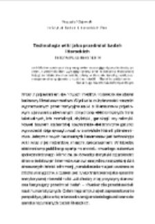 Technologia wiki jako przedmiot badań literackich