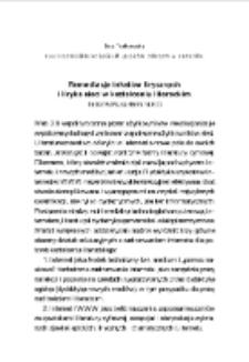 Remediacja tekstów lirycznych i liryka sieci w kształceniu literackim