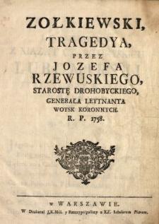 Zołkiewski : Tragedya