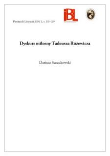 Duskurs miłosny Tadeusza Różewicza