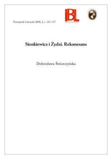 Sienkiewicz i Żydzi. Rekonesans