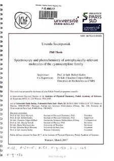 Spectroscopy and photochemistry of astrophysically -relevant molecules of the cyanoacetylene family