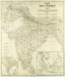 Karte von Alt-Indien = A map of Ancient India with the indian classical and principal modern names