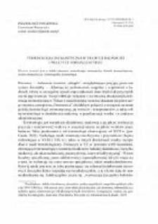 Terminologia onomastyczna w tradycji badawczej praktyce normalizacyjnej