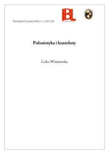 Polonistyka i konteksty