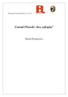 "Conrad i Potocki: dwa ""rękopisy"""