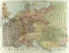 Reise- und Verkehrskarte von Mittel-Europa