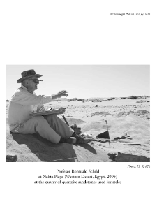 On the 80th birthday of Professor Romuald Schild