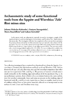 Archaeometric study of some functional tools from the Sąspów and Wierzbica 'Zele' flint mines sites