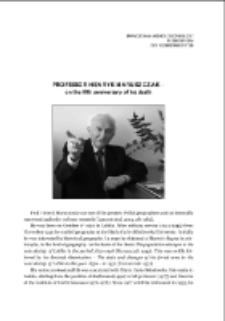 Professor Henryk Maruszczak – on the fifth anniversary of his death