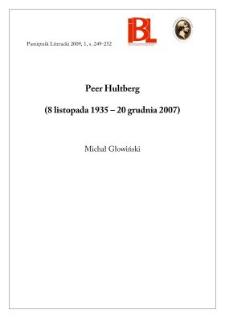 Peer Hultberg (8 listopada 1935 – 20 grudnia 2007)