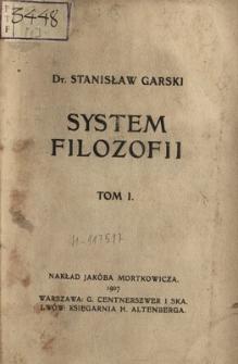 System filozofii. T. 1, Zagadnienia wstępne