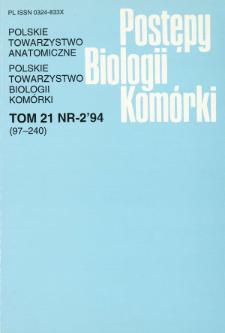 Postępy biologii komórki, Tom 21 nr 2, 1994
