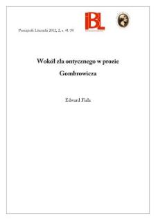 Wokół zła ontycznego w prozie Gombrowicza