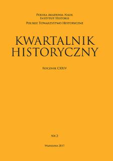 Kwartalnik Historyczny R. 124 nr 2 (2017), Letters to the editors