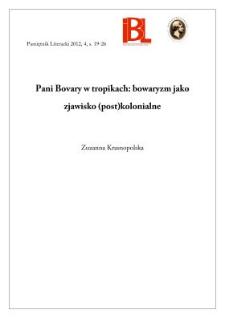 Pani Bovary w tropikach: bowaryzm jako zjawisko (post)kolonialne