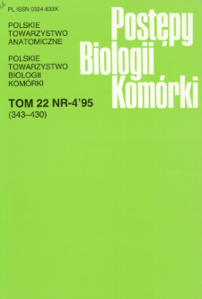 Postępy biologii komórki, Tom 22 nr 4, 1995