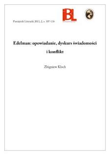 Edelman: opowiadanie, dyskurs świadomości i konflikt