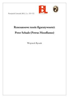 Renesansowe teorie figuratywności: Peter Schade (Petrus Mosellanus)