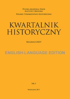 Kwartalnik Historyczny, Vol. 124 (2017) English-Language Edition No. 1, Reviews