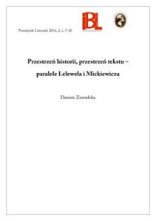 Przestrzeń historii, przestrzeń tekstu – paralele Lelewela i Mickiewicza