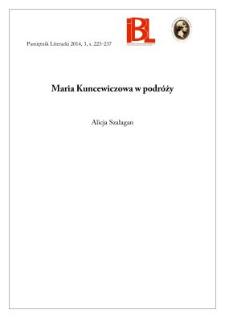 Maria Kuncewiczowa w podróży