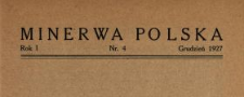 Minerwa Polska 1927 N.4