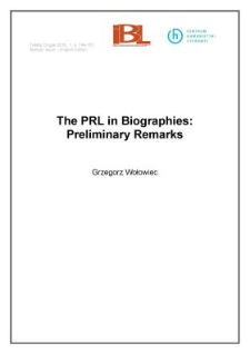 The PRL in biographies: preliminary remarks