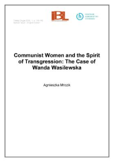 Communist women and the spirit of transgression: the case of Wanda Wasilewska