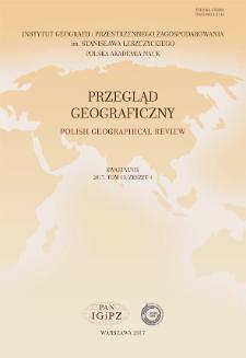 Przegląd Geograficzny T. 89 z. 4 (2017), Spis treści