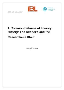 A common defence of literary history: the reader's and the researcher's shelf