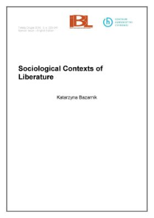 Sociological contexts of literature
