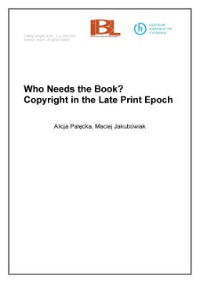 Who needs the book? Copyright in the late print epoch