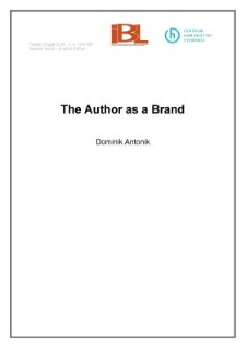 The Author as a brand