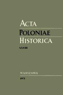 Acta Poloniae Historica T. 28 (1973), Vie scientifique