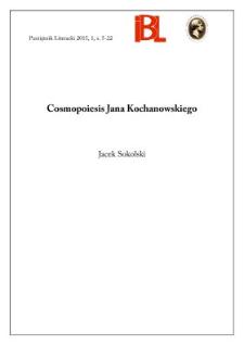 Cosmopoiesis Jana Kochanowskiego