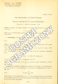 On linearization of control systems