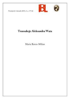 Transakcje Aleksandra Wata